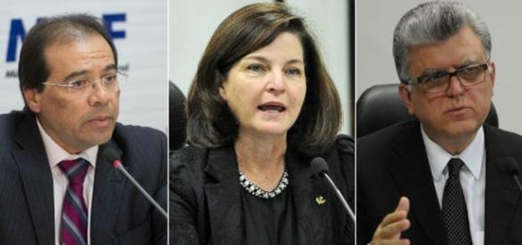 Nicolao, Raquel Dodge e Mário Bonságlia formaram a lista tríplice