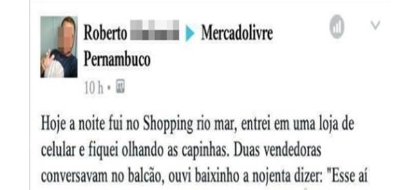 Cliente faz compra em shopping só para impressionar (Foto: Reprodução)