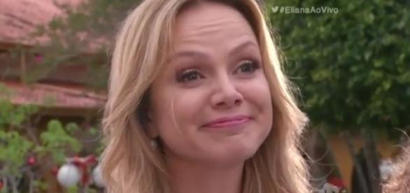 Eliana parece estar mais animada