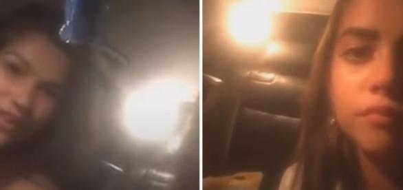 Garotas colidiram contra uma proteção de concreto (RT)