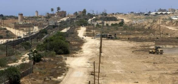 Hamas-affiliated websites posted images of bulldozers in the initial stages of construction. [Image via National Post/nationalpost.com]