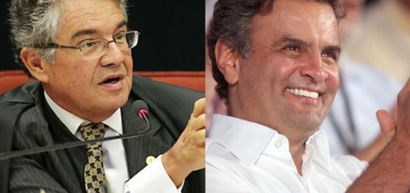 Ministro do STF Marco Aurélio (à dir.) autoriza Aécio Neves a retomar mandato e nega pedido de prisão