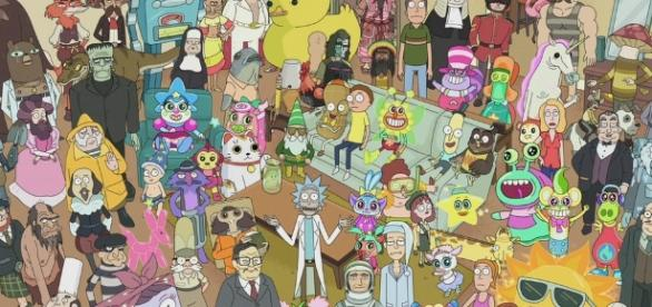 Rick and Morty characters from season 2 - Photo via Adult Swim