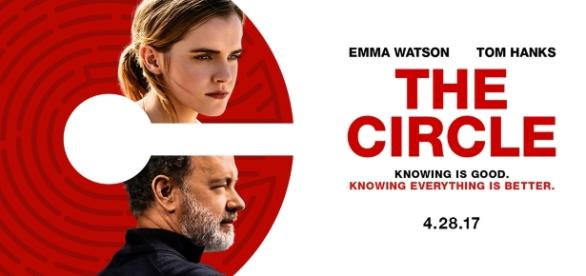 The Circle Movie Poster contaiingin logo and two of the film`s stars