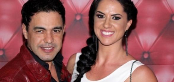 Zezé de Camargo e sua nova companheira