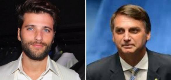 Ator Bruno Gagliasso e deputado federal Jair Bolsonaro