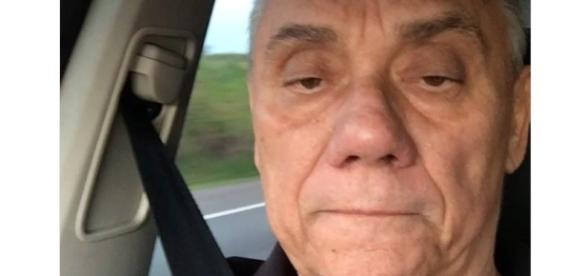 Marcelo Rezende faz vídeo informando que vai se internar. (Foto internet)