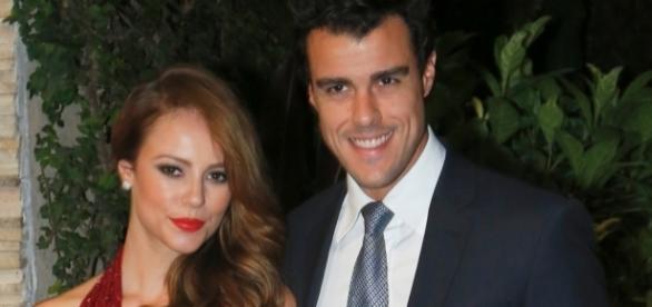 Paolla Oliveira e Joaquim Lopes na época em que eram casados