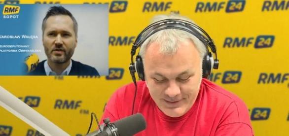 """Program """"Gość Poranka"""" w Radiu RMF (źródło: youtube.com)"""