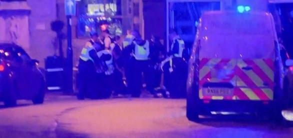 Source- ITV -Emergency services attend the scene in central London