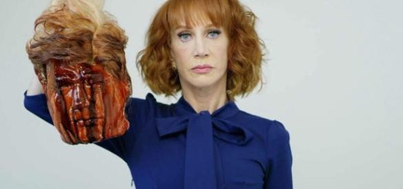 WATCH: Kathy Griffin Apologizes for Trump 'Beheading' Photo ... - heavy.com
