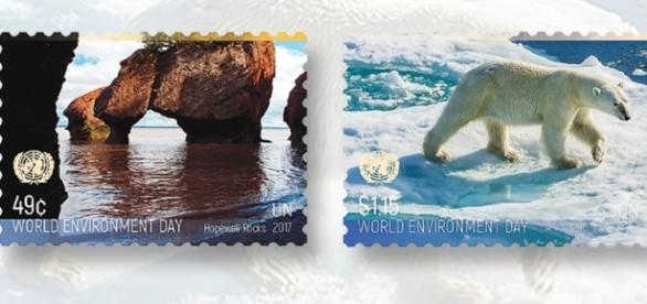 Foram confeccionados selos oficiais com imagens do país-sede do importante evento ecológico mundial (Foto: Reprodução)