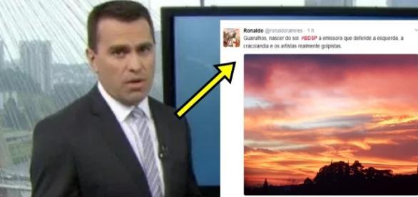 Rodrigo Bocardi lê comentário contra Globo - Google