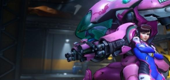 D.va is ready for the 'Overwatch' double XP weekend. / Image by Blizzard Entertainment