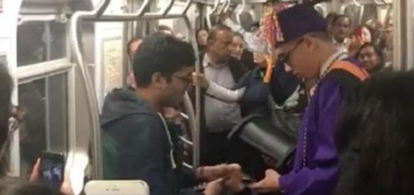 Jovem se atrasou para a formatura, mas teve a solidariedade de passageiros