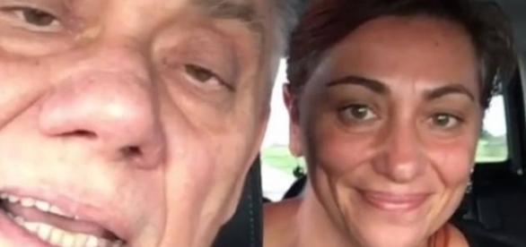 Marcelo Rezende com sua filha mais velha