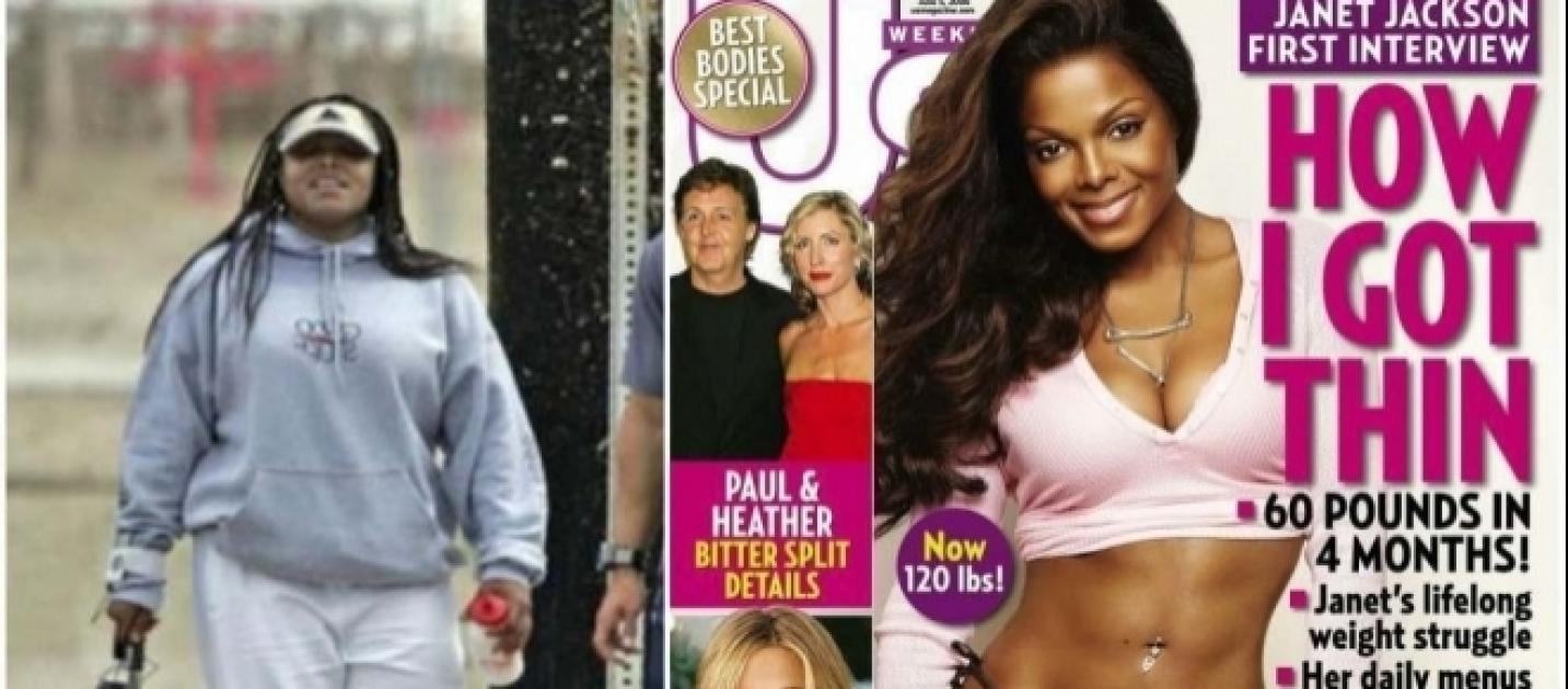 How did Janet Jackson manage to lose 50 pounds in five months?