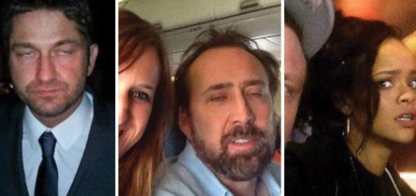 Famosos que não se sentiram à vontade ao tirar selfies