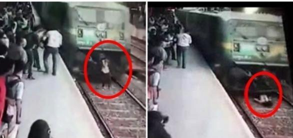 Jovem sobrevive após ser atropelada por trem (Foto: Reprodução)
