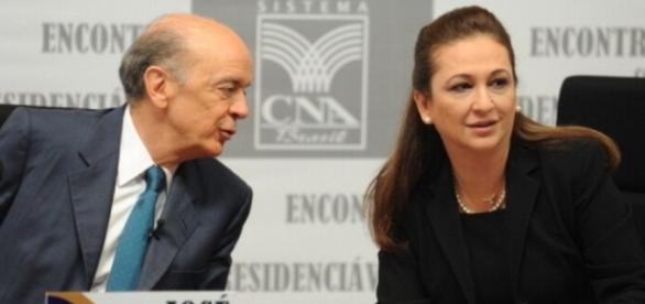 Senadores José Serra e Kátia Abreu