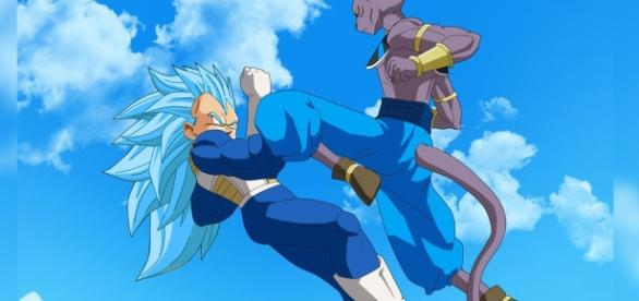 Vegeta se enfrenta a Bills, el dios destructor