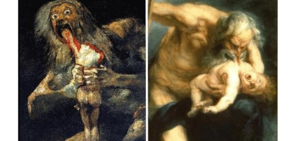 El Saturno de Goya y el de Rubens