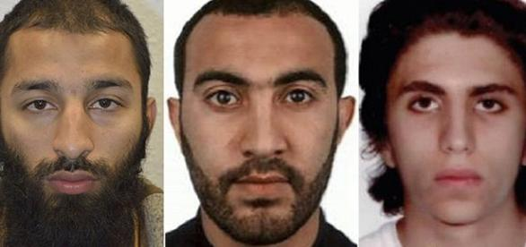 Photo left to right Butt, Redouane and Zaghba courtesy London Metropolitan police