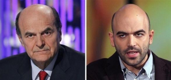 Pier Luigi Bersani e Roberto Saviano, due dei potenziali leader della Sinistra unita