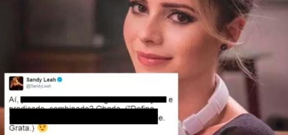 Sandy dá aula de português no Twitter e mita - Google