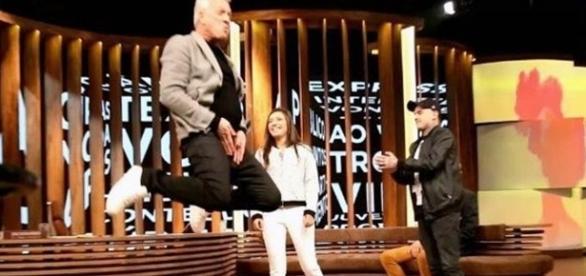 O apresentador mostrou todas as duas habilidades ( Foto - Globo )