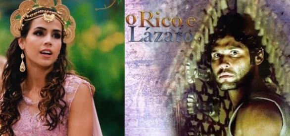 A princesa Kassaia e Asher na novela 'O Rico e Lázaro'