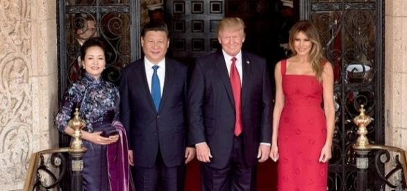 President Donald Trump and Chinese President Xi Jingping, April 6, 2017 (wikimediacommons)