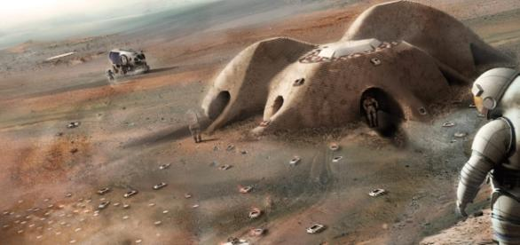 3D printed habitats on Mars (NASA)