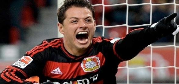 "Javier ""Chicharito"" Hernández jugador del Bayer Leverkusen"