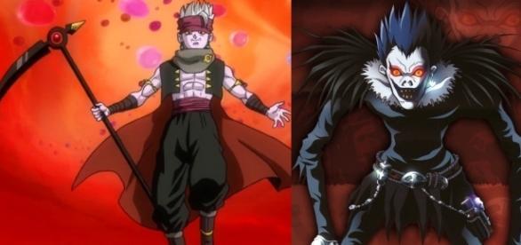La imagen del nuevo personaje junto a Ryuk de Death Note.