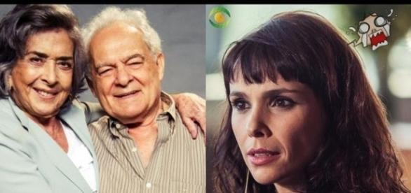 Novela ¨AForça do Querer¨com Irene, Otávio e Elvira