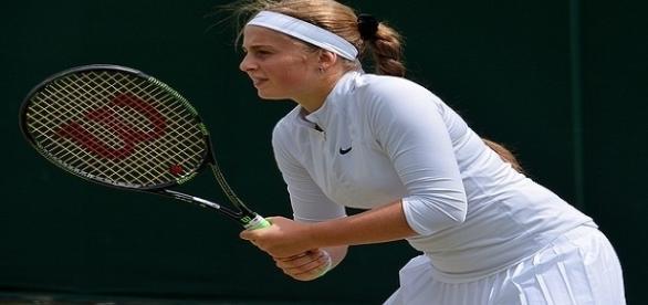 Ostapenko during 2016 Wimbledon/ Photo: Carine06 via Flickr CC BY-SA 2.0