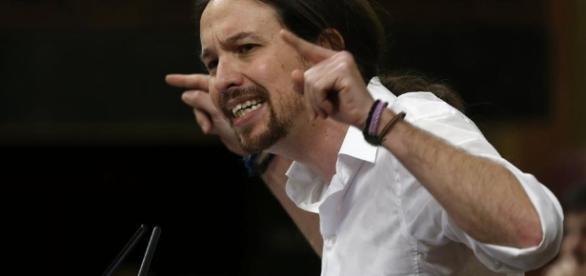 Pablo Iglesias, durante un acto de Podemos