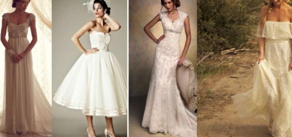 abiti da sposa vintage chic anni '20