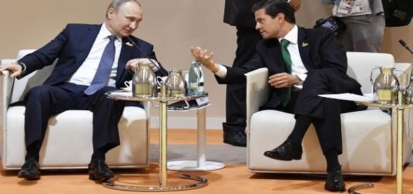 diálogo entre Vladimir Putin y Peña Nieto.