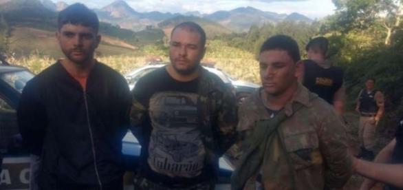 Homens presos são acusados da participação no assassinato do PM em Minas Gerais (Foto: Captura de vídeo)