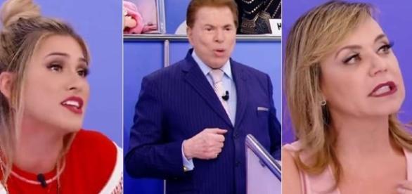 Livia Andrade e Flor discutiram no programa de Silvio Santos