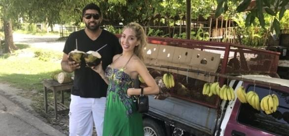 Simon Saran and Farrah Abraham enjoy Jamaica. (Photo via Twitter)