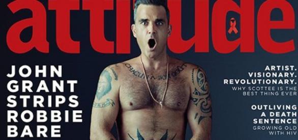 Robbie Williams nudo sulla copertina di Attitude