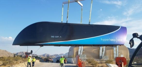 Hyperloop completed the first test run of its high-speed trains. Image source: Hyperloop Twitter