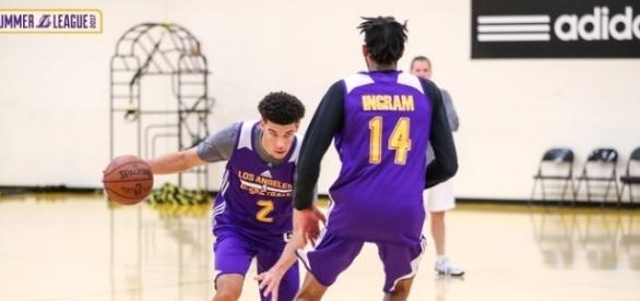 Lonzo Ball and Brandon Ingram will have to lead the Lakers to success - image source: cj_b25/Flickr - flickr.com