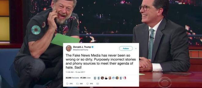 Smeagol back again: This time the precious lover is reading Trump tweets