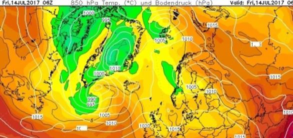 L'eccezionale onda di calore che ha raggiunto ieri la Spagna
