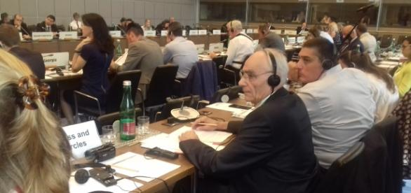 Mr. Christian Mirre after speaking at the OSCE conference in Vienna to combat drugs