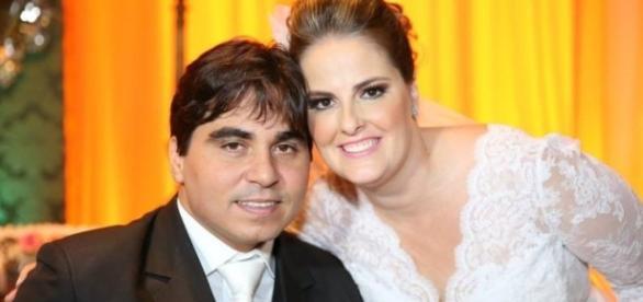 Felipe e Letícia no seu casamento (Foto: Arquivo Pessoal)